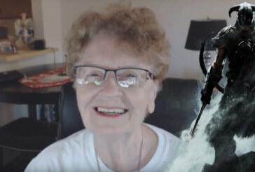 Farmor Shirley firar 300 let's play-filmer med Skyrim