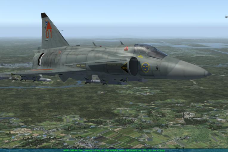 Svenskt stridsflygplan simuleras i detalj