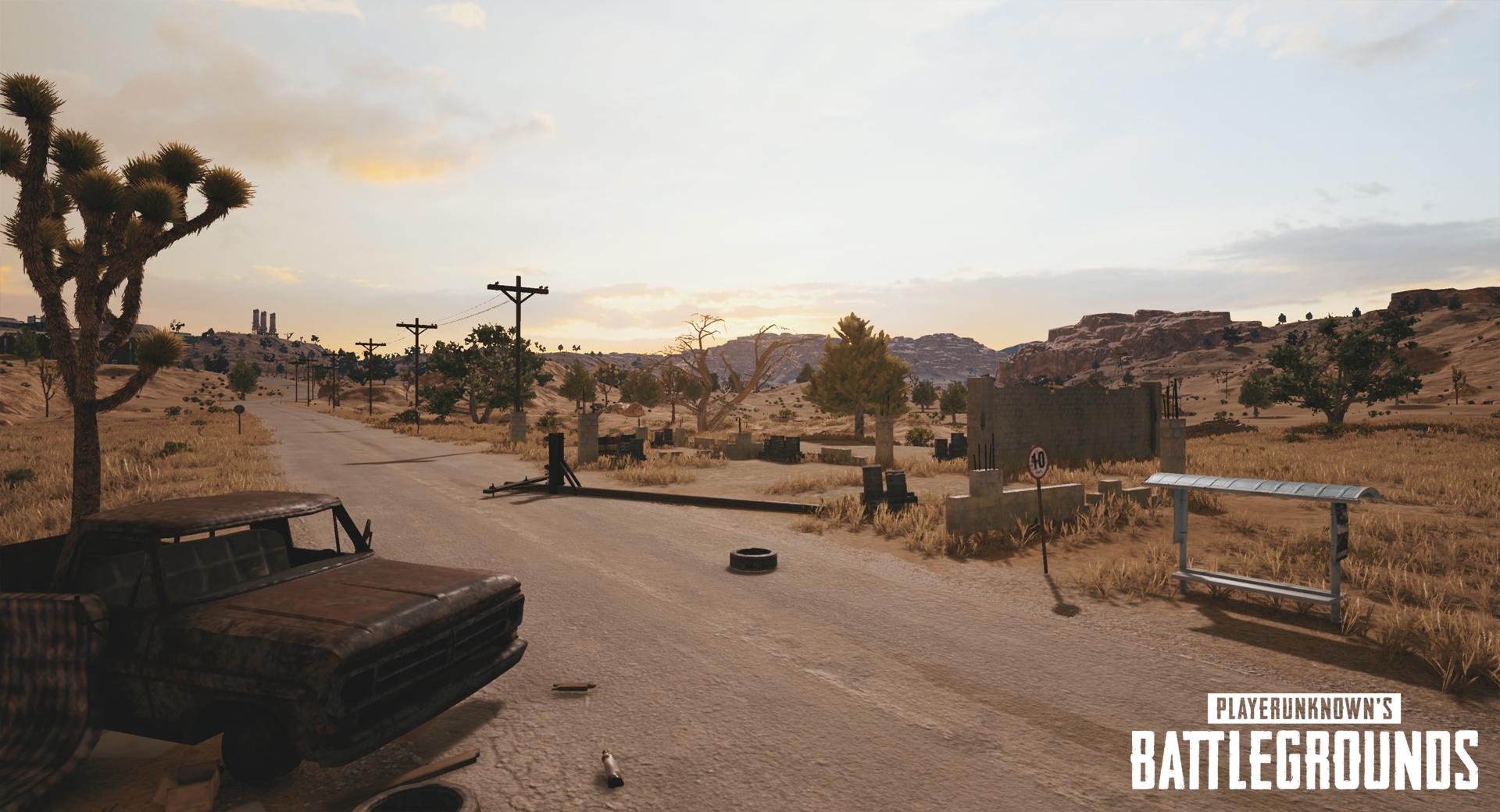 Playerunknown S Battlegrounds Maps Loot Maps Pictures: Playerunknowns-battlegrounds-nvidia-desert-map-screenshot