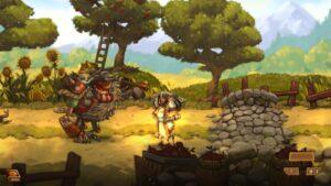 Bild från Steamworld Quest.
