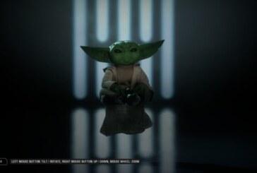 Moddare jobbar på Baby Yoda för Battlefront 2
