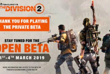 Den öppna The Division 2-betan äger rum mellan den 1 och 4 mars!