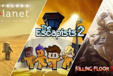 Killing Floor 2, Lifeless Planet och The Escapists 2 är Epic-gratis